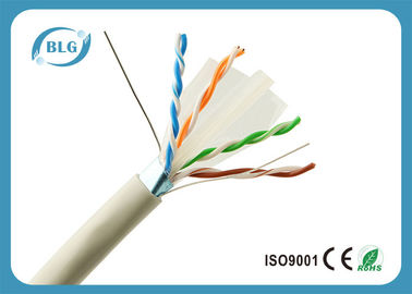 Gioco di OFC 1000 FT di Ethernet del PVC cavo/23AWG del ftp Cat6 di Ethernet di Grey del cavo